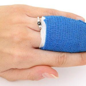 F-Cuidado de la herida y piel. Fijación.